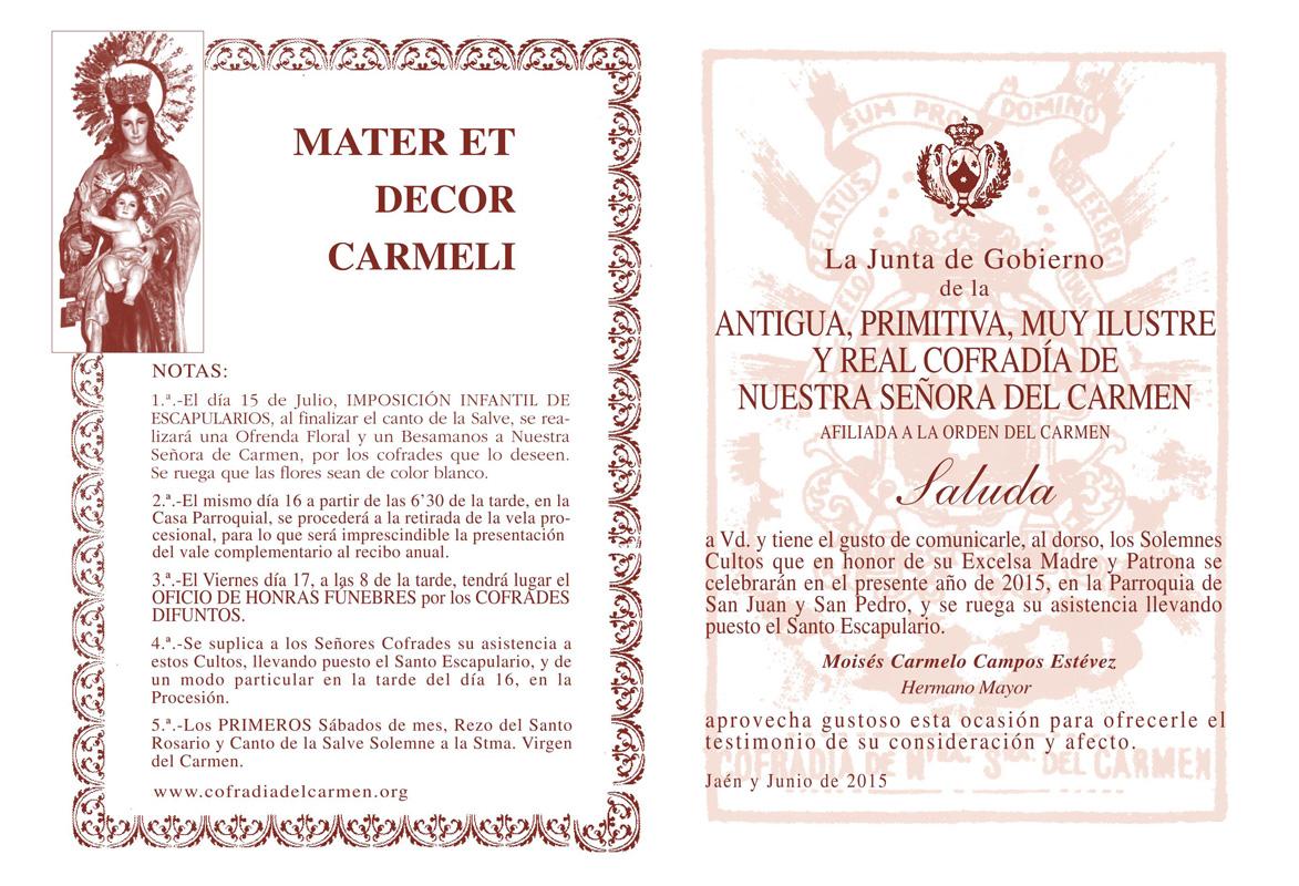 Cofradía Del Carmen
